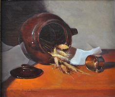 """""""The Bean Pot"""" 12""""x14"""" oil on linen by Beverly Brown"""