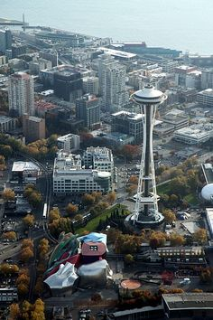 EMP museum and Space Needle, waterfront & puget sound