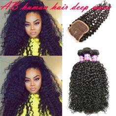 Afro kinky curly human hair weft bundles with closure 10A grade Brazilian human hair weave 3 bundles with closure curly hair extensio vrigin http://www.dhgate.com/product/afro-kinky-curly-human-hair-weft-bundles/382267851.html