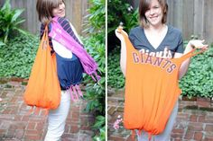 T-shirt/Jersey Tote | 11 Must-Have Summer Tote Bags | Sewing Ideas