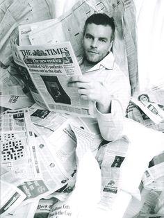 Tim Montgomerie wears Derek Rose pyjamas in Tatler's July Issue.