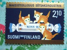 Cats in Art, Illustration and photography: finland stamp 1991