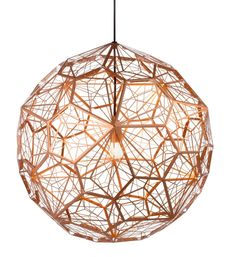 // Etch Web Lamp by Tom Dixon.