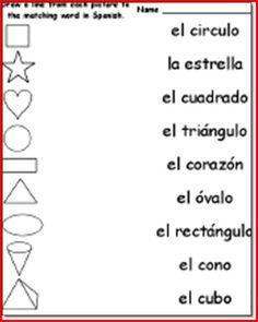 Spanish Worksheets For 1st Grade