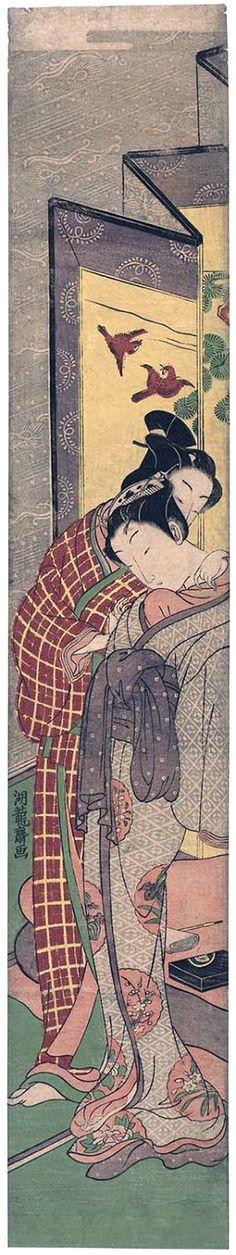 Koryusai Isoda / Stehendes Paar