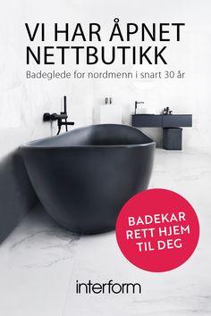 Interform - badeglede for nordmenn i snart 30 år. Kallax, Bliss, House Plans, Diy And Crafts, Bathtub, How To Plan, Bathroom, Amazing, Interior
