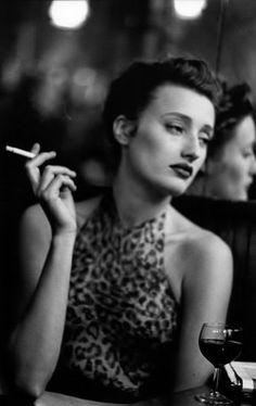 Marie Sophie Wilson in Alaia _ Photo by Peter Lindbergh, 1989.