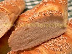 Tatarkové bagetky – Maminčiny recepty Hot Dog Buns, Hot Dogs, Bread, Pizza, Food, Breads, Baking, Meals, Yemek