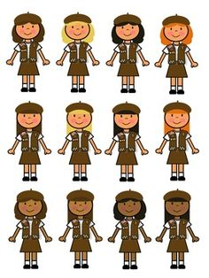 BROWNIE GIRL SCOUT CLIP ART - TeachersPayTeachers.com
