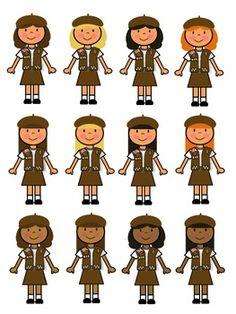 BROWNIE GIRL SCOUT CLIP ART - TeachersPayTeachers.com