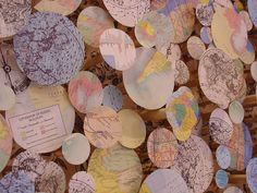 paper globes to cover part of a bulletin board---lots of variations for every subject.