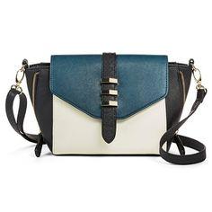 Women's Colorblocked Crossbody Handbag - Turquoise