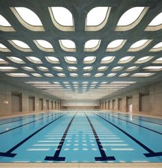 London Aquatics Centre by Zaha Hadid Architects - swimming under leaves...