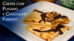 Crepes con Chocolate Fundido y Bananas Caramelizadas