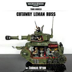 Leman Russ tank cutaway