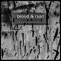 Blood and Rust - Download  Photoshop brush http://www.123freebrushes.com/blood-and-rust/ , Published in #BloodSplatter, #GrungeSplatter. More Free Grunge & Splatter Brushes, http://www.123freebrushes.com/free-brushes/grunge-splatter/ | #123freebrushes
