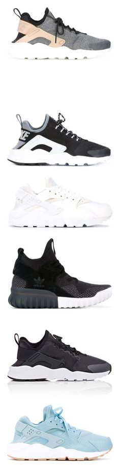 """""""2017 July  Shoes"""" by yasminerihanna ❤ liked on Polyvore featuring shoes, sneakers, shoes & socks, grey, nike trainers, laced shoes, laced sneakers, nike sneakers, grey shoes and black"""