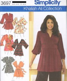 pattern (the orange one) but obviously much longer.Plus Size Knit Tunics sewing patterns 3697 Khaliah Ali for Simplicity Tunic Sewing Patterns, Clothing Patterns, Dress Patterns, Sewing Clothes, Diy Clothes, Clothes For Women, Plus Size Sewing, Plus Size Patterns, Look Plus Size