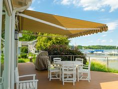 Replace the fabric on your retractable awning.