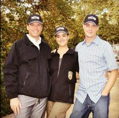 Sweet. NCIS's Cote Dr Pablo, Michael Weatherly, and Sean Murray.