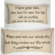 pet lover linen pillow