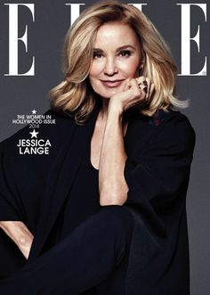 Jessica Lange covers ELLE November 2014 issue. // Photo by Paola Kudacki