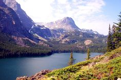 crystal lake in the lewis & clark national forest