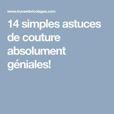 14 simples astuces de couture absolument géniales!