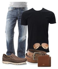 """Men's"" by christina-joann on Polyvore featuring Silver Jeans Co., Columbia, Dockers, Mulberry, men's fashion and menswear"