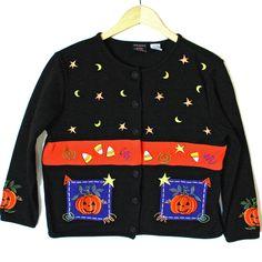 Stars, Moons, Candy Corn and Pumpkins Tacky Ugly Halloween Sweater Sweater Shop, Ugly Sweater, Sweaters, Candy Corn, Being Ugly, Pumpkins, Stars, Halloween, Shopping