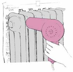 How to clean a radiator. Genius.                                                                                                                                                                                 More