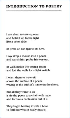 Creative Poems | Examples of Creative Poetry