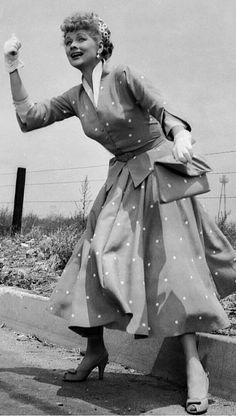 Lucille Ball on Long Long Trailer set