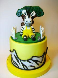 Zou Zebra Birthday Cakes, Zebra Cakes, Cake & Co, Eat Cake, Cute Cakes, Yummy Cakes, Beautiful Cakes, Amazing Cakes, Cakes For Boys