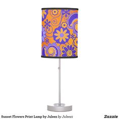 Sunset Flowers Print Lamp by Juleez