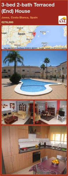 Terraced (End) House for Sale in Javea, Costa Blanca, Spain with 3 bedrooms, 2 bathrooms - A Spanish Life Window Shutters, Murcia, Seville, Malaga, Old Town, Townhouse, Terrace, Costa, Madrid