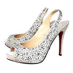 Ivory Christian Louboutin Star Prive 120 Slingbacks