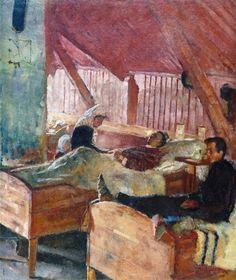Edvard Munch - The Infirmary at Helgelandsmoen - Munch-museet (Norway - Oslo) 1884