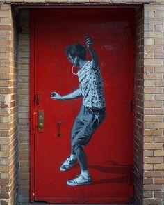 Brooklyn, New York: nuovo pezzo della street artist norvegese Strøk. Graffiti Murals, Murals Street Art, 3d Street Art, Art Mural, Street Art Graffiti, Street Artists, Street Art Photography, Amazing Street Art, Outdoor Art