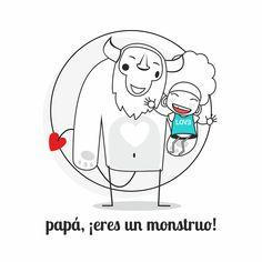 Graphic design, Draw, ilustración, papá, monstruo