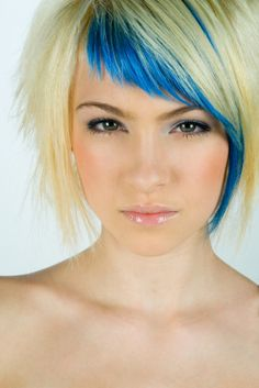 blue fringe/peekaboo -                                                                                                                                                      More