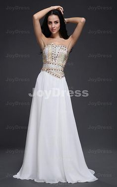 Sequin A-line Strapless Floor-length Dress Dresses Online Australia, Floor Length Dresses, Cheap Prom Dresses, Red Carpet Dresses, Formal Evening Dresses, Ladies Dress Design, Designer Dresses, White Dress, Sequins