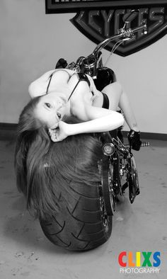 Harley Davidson Motorcycle Portraits by CLIXS PHOTOGRAPHY (Boudoir Photographer).