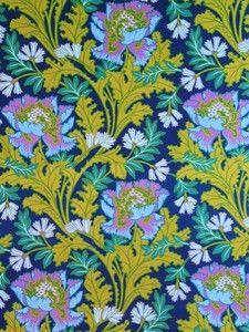 Vintage Combe Sanderson Floral Cotton Fabric