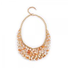 Buy Rhea Sun Kissed Orange White Stones Necklace Online at cheap prices from Shopkio.com: India`s best online shoping site