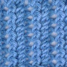 Shawl Brioche Stitch - This stitch is a combination of brioche and normal ribbing.