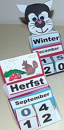 Eeuwige kalender met de seizoenen