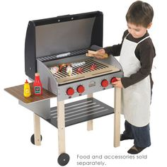 I wonder if i could make this from an old end table     Hmmmmm   My Backyard BBQ Set from Educo - Just like Daddy!