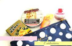 Ma trousse de voyage à petits prix | 4 produits makeup pour 8 utilisations !