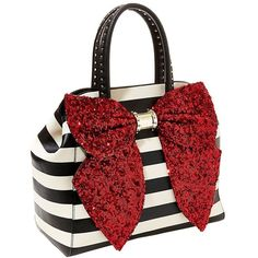Betsey Johnson Oh Bow Satchel Handbag ($128) ❤ liked on Polyvore featuring bags, handbags, red, satchel bag, bow handbag, red satchel, satchel purse y satchel handbags